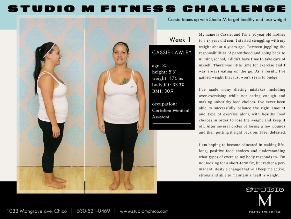 Studio M Fitness Challenge - Cassie Week 1